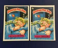 1986 Topps #173a MENACED DENNIS  173b WORMY SHERMY Lot 2 Garbage Pail Kids GPK