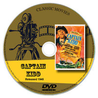 Captain Kidd 1945 Classic DVD Film - Adventure, Biography, Drama, Film Noir