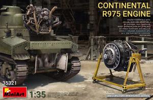 Continental R975 Engine (Plastic model Kit) 1/35 MiniArt  35321