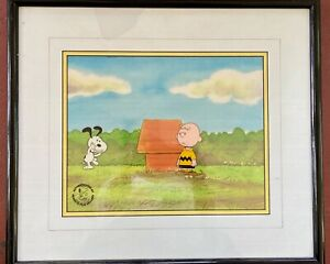 production animation cel, Peanuts, Charles Schulz, Snoopy & Charlie Brown