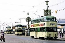 Blackpool Corporation Balloon 706,711 6x4 tram Photo Ref P147
