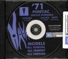 PONTIAC 1971 Bonneville, Catalina, GTO, Tempest, Fire Bird Shop & Body Manual CD