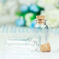 15-100 pcs 22*50mm 10ml Mini Clear Empty Glass Wishing Bottles Vials With Cork