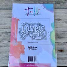 Tutti Designs Swirly Love Cutting Die TUTTI - 223