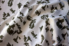 CAMO cotton CAMOUFLAGE FABRIC MILITARY winter  hunting Birch white