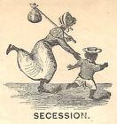 Civil War Cover ~ SECESSION Running Slave & Boy