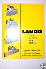 LANDIS TYPE-R PRECISION PLAIN GRINDERS Brochure Catalog #RR284