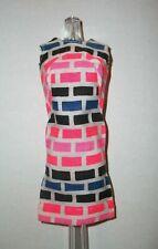 VINTAGE BARBIE Doll #1686 PRINT APLENTY MOD 1967 VARIATION DRESS EXCELLENT