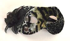 NEW Animal printed fabric Masquerade Mask Eye Gothic halloween fancy dress