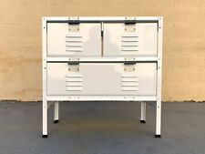 2 x 2 Locker Basket Unit in White on White, Newly Fabricated to Order