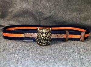 Polo Ralph Lauren TIGER BUCKLE Striped Grosgrain Belt. 34/85