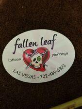 Sticker  long vintage tattoo shop  Fallen Leaf ink tattoo sticker