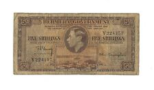 1937 BERMUDA 5 Shillings, P-8a Single Letter Prefix Type Only 240k Printed, KGVI