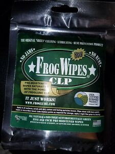 """Froglube CLP Frog Wipes 8x8"""" Pre-Moistened Resealable 5-Pack"""