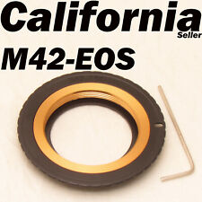M42 To Canon EOS EF Adjustable Lens Adapter 5DIII 5DII 6D 5D 7D 60D 700D 650D 60