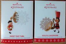 Hallmark Keepsake - Soulful Saxophone & Sweet Toot Tuba - 2 ornaments