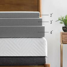 LUCID 2, 3, 4 Inch Bamboo Charcoal Memory Foam Mattress Topper - Twin Full Queen