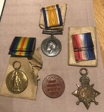 WW1 Medals Trio With Mons Star Etc