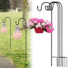 More details for shepherd crook hooks flowerpot stand garden outdoor plant basket lamp hanger uk