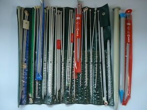 Huge lot of vintage metal paired knitting needles sets from England mixed sizes