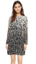 Tory Burch Pleated Silk Dress 4 Black Gesso S Keyhole Nwt Chiffon