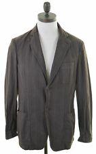 TRUSSARDI Mens Blazer Jacket IT 48 Medium Brown Striped Cotton  GR07