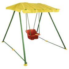 Altalena da giardino o interno con telaio in metallo e aletta parasole 12 mesi