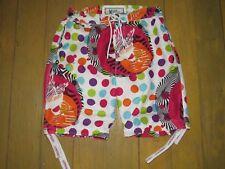 "Flow Society ""Lacrosse Board"" Short Junior Boys Bathing Suit Trunks Boxer Sz.M."