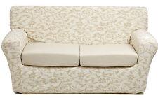 Copridivano 4 posti x divano millerighe copri divano ottoman fiore panna