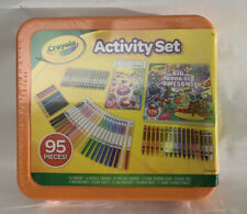 Crayola Activity Set 95pcs New! Markers Stickers Crayons Pencils.
