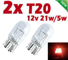 2X T20 12V 21W 5W TAIL Brake Signal Halogen Light Dual Filament bulb White Wedge