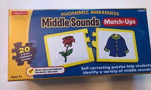 Lakeshore Phonemic Awareness Middle Sounds Match-Ups Self Correcting Puzzle-NIP!