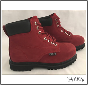 Ladies Ankle High Lace Up Safety Work Boots Womens Nubuck Leather