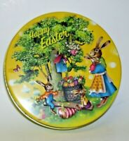 Happy Easter Tin box Peter Rabbit and Family Raised 3-D Lid