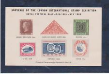 1960 SOUVENIR SHEET LONDON INTERNATIONAL STAMP EXHIBITION MINT NEVER HINGED