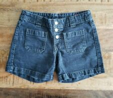 Levis Womens Shorts Blue Denim Patch Pocket Button Fly Jeans Mid Rise Sz 2