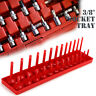 "3/8"" 1/4"" 1/2"" Metric SAE Socket Tray Rack Holder Storage Tool Organizer"