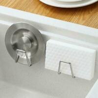 Kitchen Sink Faucet Drying Rack Hooks Sponge Storage Bath Shelf Soap Holder V3C1