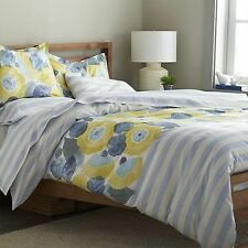 NEW NIP MARIMEKKO KESAHELLE TWIN DUVET COVER BLUE WHITE TEAL STRIPES AND FLORALS