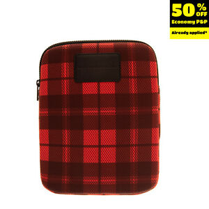 MARC By MARC JACOBS Air Mesh Clutch Bag Tablet Case Tartan Pattern Padded Zipped