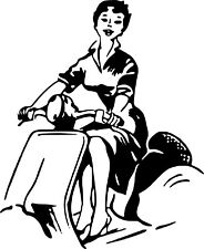 Sticker Pin Up Scooter 57x70cm