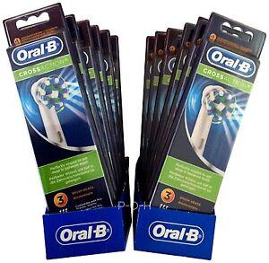 2 bis 12 Org.Braun Oral B Cross Action Aufsteckbürsten Oralb Ersatzbürsten