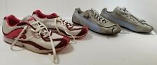 2 Pair PUMA Womens 9M Suede & Cotton Sneaker Shoes Gray+Baby Blue & Maroon+Pink