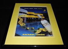 2000 Bacardi Limon Rum Framed 11x14 ORIGINAL Vintage Advertisement