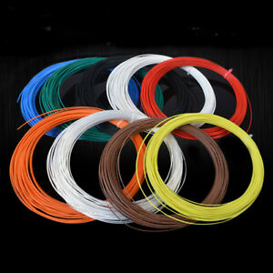 Colored Wire PTFE Silver Plated Copper Cable 14/16/18/19/20/22/24/26/28/30AWG