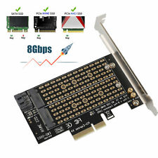 M.2 NGFF to Desktop PCIe X4 X8 X16 NVMe SATA Dual SSD PCI Express Adapter Card