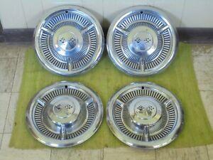 "1958 Chevrolet Hub Caps 14"" Set of 4 Chevy Hubcaps Wheel Covers 58"