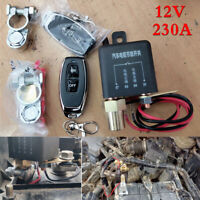 12V Car Battery Disconnect Cut Off Isolator Master Switches Dual Wireless Remote