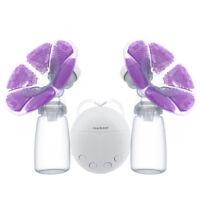 Double Side Electric Breast Pump Set Fast Sucking Massage Milker Fedding