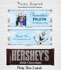 Frozen Inspired Candy Bar Wrappers Birthday Party Favor
